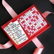 Valentine Crossword Cookies