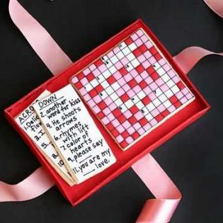Valentine Crossword Cookies
