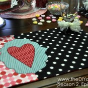 valentine place mat