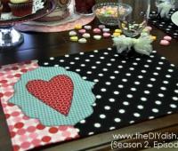valentine place mat