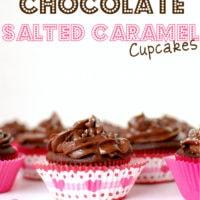 Chocolate salted caramel cupcakes