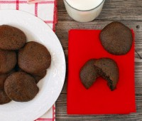 Almost Fat Free Chocolate Cookies
