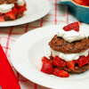 Oatmeal Brownie Strawberry Shortcake