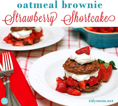 Strawberry Shortcake Day, enjoy OATMEAL BROWNIE STRAWBERRY SHORTCAKES ...