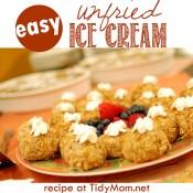 Unfried Ice Cream| recipe at TidyMom.net