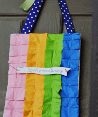 spring door craft at TidyMom.net