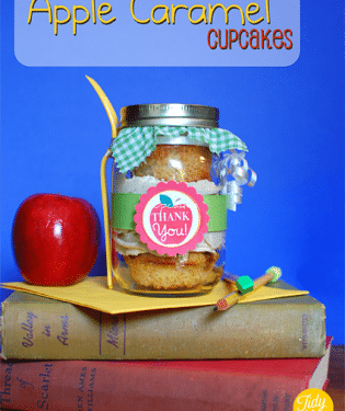 Apple Caramel Teacher Appreciation Cupcakes at TidyMom.net