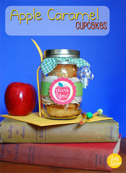 Apple Caramel Teacher Appreciation Cupcakes
