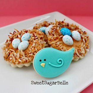Spring Birds Nest Cookies