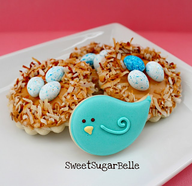 Spring Birds Nest Cookies