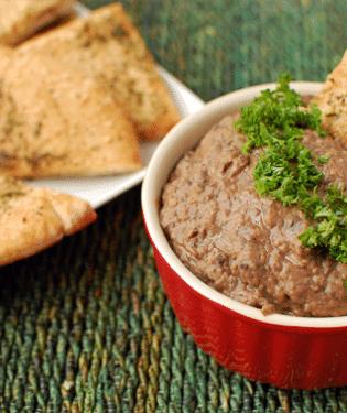 black bean & carmelized onion dip