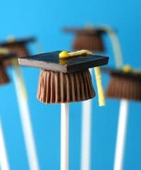 graduation cap reeses treats