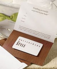 win a FREE $100 Pottery Barn Gift Card