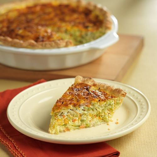 Broccoli Slaw Broccoli and Garlic Quiche