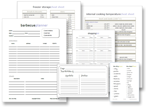 BBQ planning printables