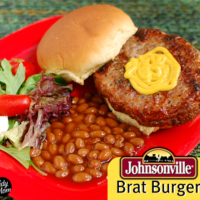 Johnsonville Brat Burger