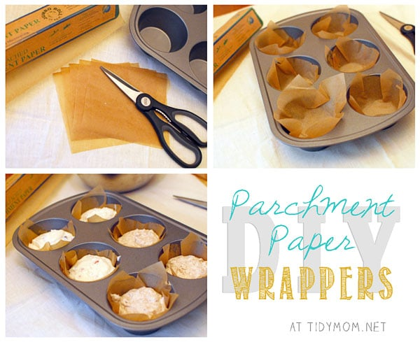 DIY Parchment Paper Wrappers at TidyMom