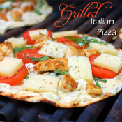 grilled italian pizza