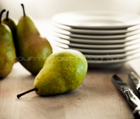 pears on a cutting board - Gourmande in the Kitchen