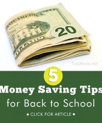 5 Money Savings Tips for Back to School at TidyMom.net