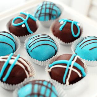 Baby Blue Velvet Cake Truffles