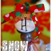 snow filled monogrammed ornament