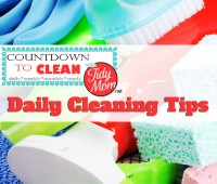 Countdown to Clean. Daily Cleaning Tips at TidyMom.net