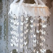 freezer paper Butterfly Mobile