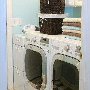 Dryer Sheet Tip & Pretty Laundry Rooms {$25 Visa Giveaway}