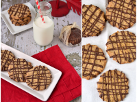 Oatmeal Chocolate Drizzle Cookies