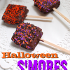 Halloween s'mores on a stick