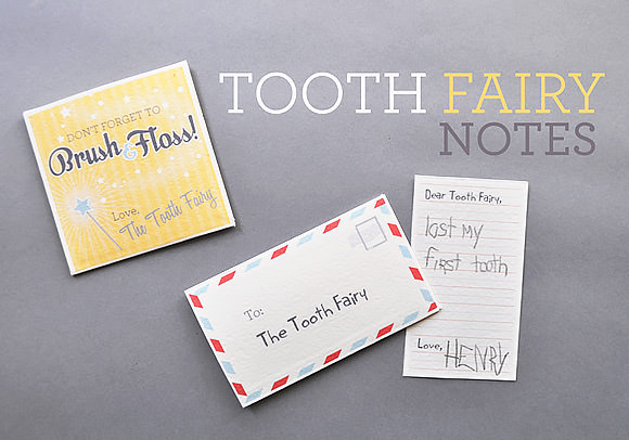 tooth fairy notes free printable