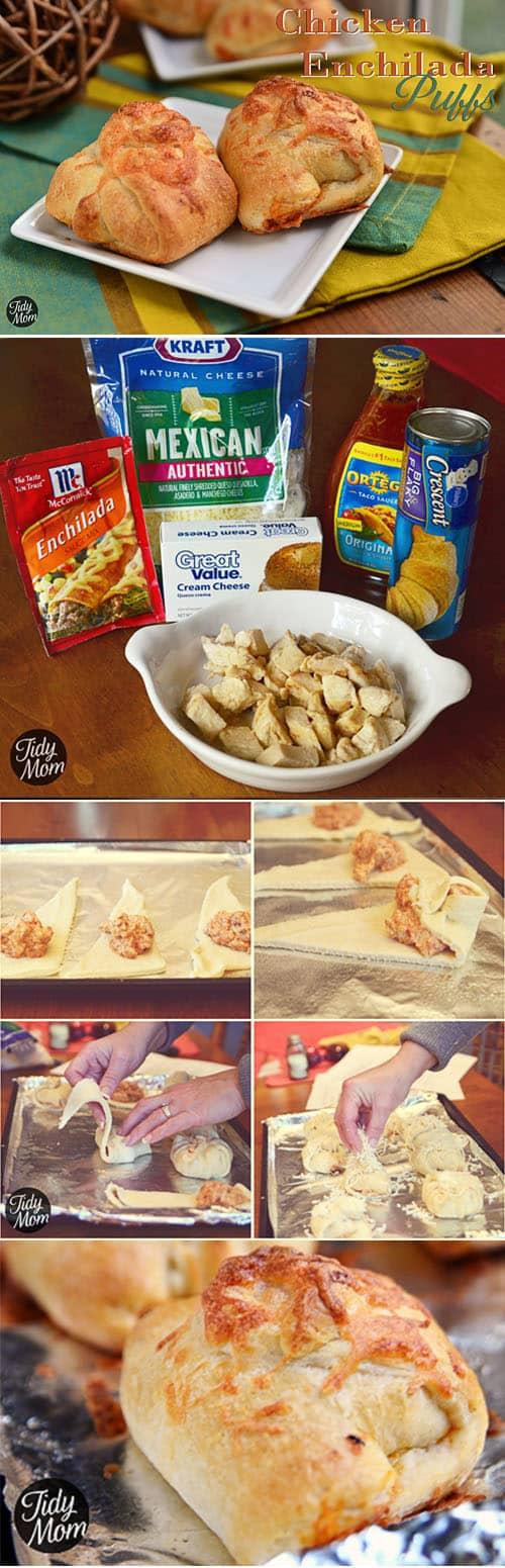 Turn chicken enchiladas into finger food! #recipe at TidyMom.net