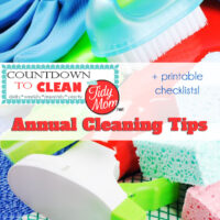 Countdown to Clean. Annual Cleaning Tips at TidyMom.net Using this method, you'll get your house clean without back-breaking effort. Remember, the more often you clean, the less build up you'll have.