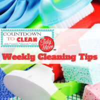 Countdown to Clean. Weekly Cleaning Tips at TidyMom.net Using this method, you'll get your house clean without back-breaking effort. Remember, the more often you clean, the less build up you'll have.
