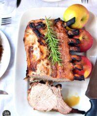 brinned rack of pork