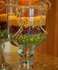 decorating with dried beans