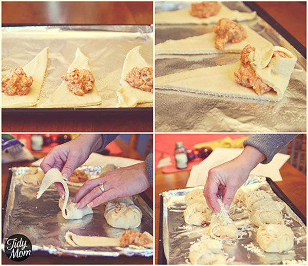 Turn chicken enchiladas into finger food! #recipe and tutorial at TidyMom.net