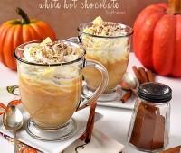 Pumpkin Spice White Hot Chocolate at TidyMom.net