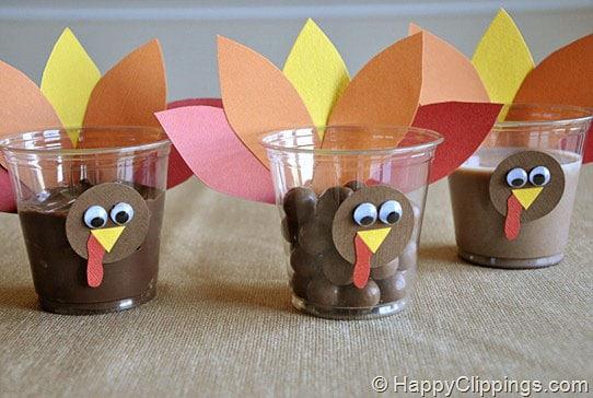 preschool crafts for kids thanksgiving turkey snack cups