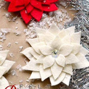 Felt Poinsettia Pin