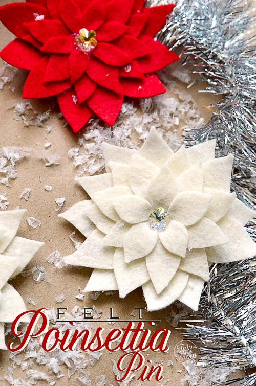 felt flower tutorial how to make a poinsettia