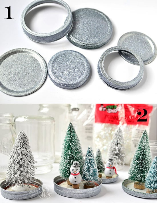 How to make fun {waterless} snow globes at TidyMom.net