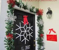 Snow Flake Front door