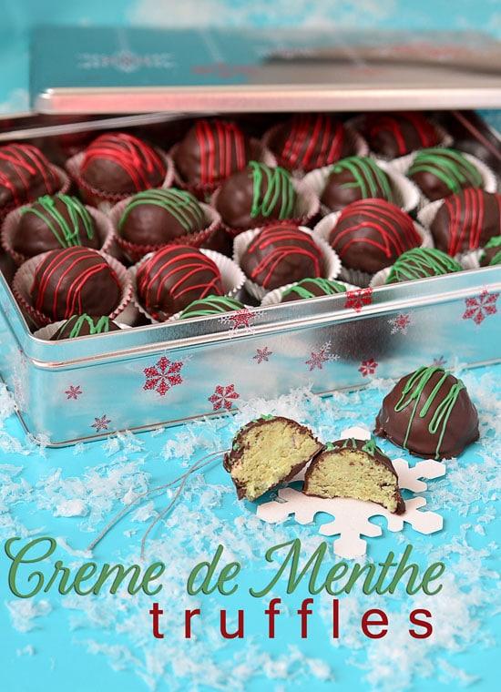 Christmas Cake Truffles {Creme de Menthe} & cake ball tips