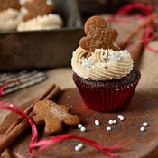 Gingerbread Cupcakes with Cinnamon Brown Sugar Buttercream