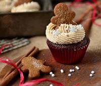 Gingerbread Cupcakes with Cinnamon Brown Sugar Buttercream