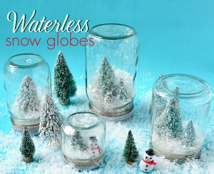 waterless snow globes are so fun and easy to make!  Get the directions at TidyMom.net