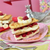 Caramel Raspberry Banana Napoleon