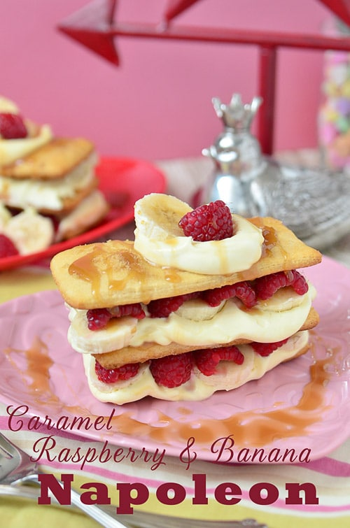 Caramel Raspberry Banana Napoleon TidyMom